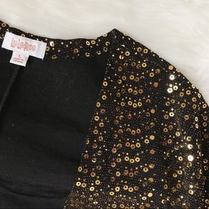 LuLaRoe Elegant Collection Sarah Gold Sequins